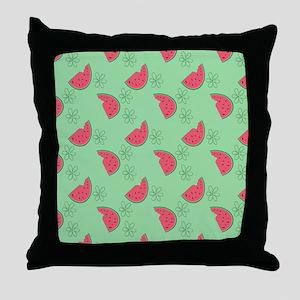 Watermelon Flowers Throw Pillow
