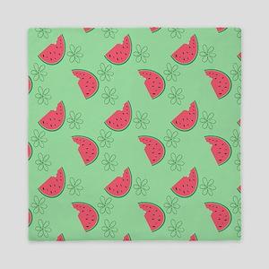 Watermelon Flowers Queen Duvet