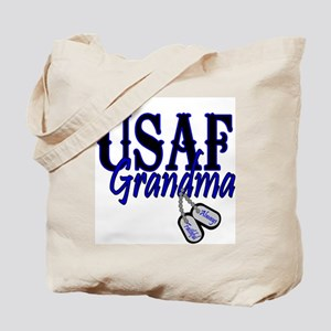 Air Force Grandma Dog Tag Tote Bag