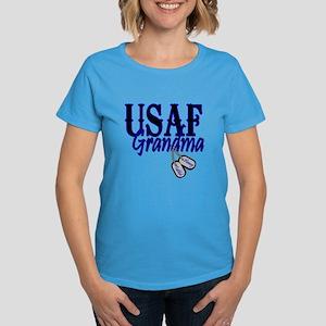 Air Force Grandma Dog Tag Women's Dark T-Shirt