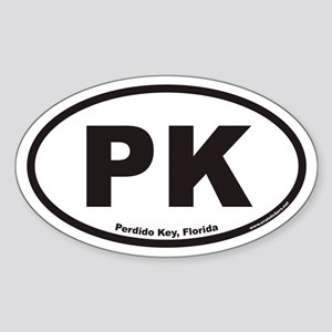 Perdido Key PK Euro Oval Sticker