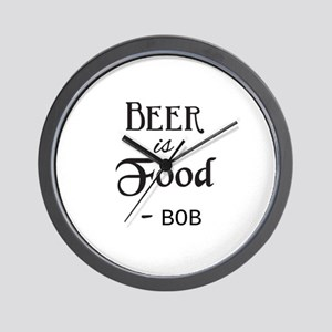 Beer is Food Personalized Wall Clock