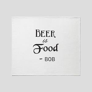 Beer is Food Personalized Throw Blanket