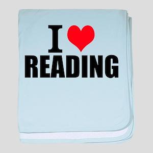 I Love Reading baby blanket