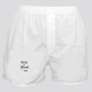 Beer is Food Personalized Boxer Shorts