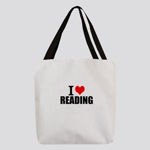 I Love Reading Polyester Tote Bag