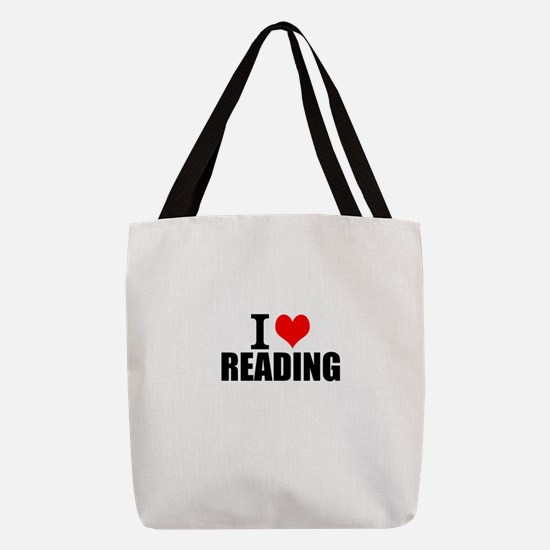 I Love Reading Polyester Tote Bag