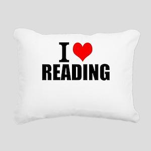 I Love Reading Rectangular Canvas Pillow