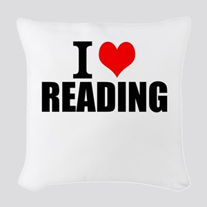 I Love Reading Woven Throw Pillow