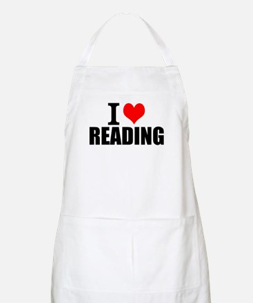 I Love Reading Light Apron