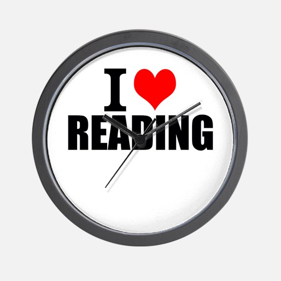 I Love Reading Wall Clock
