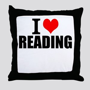 I Love Reading Throw Pillow