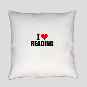 I Love Reading Everyday Pillow