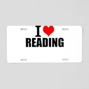 I Love Reading Aluminum License Plate