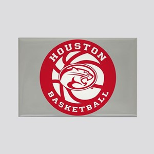 Houston Basketball Rectangle Magnet
