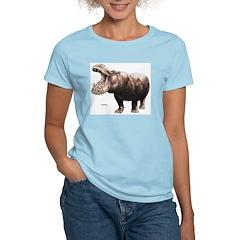 Hippo Hippopotamus Women's Pink T-Shirt