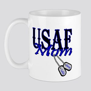 Air Force Mom Dog Tag Mug