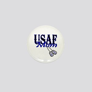 Air Force Mom Dog Tag Mini Button