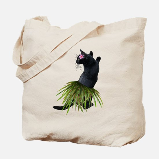 Hula Cat Tote Bag