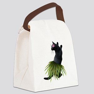Hula Cat Canvas Lunch Bag