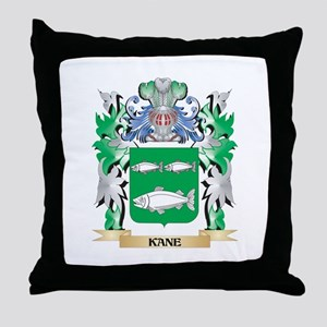 Kane Coat of Arms - Family Crest Throw Pillow