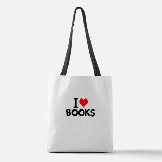 I Love Books Polyester Tote Bag