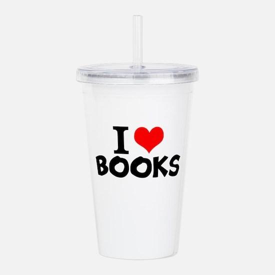 I Love Books Acrylic Double-wall Tumbler