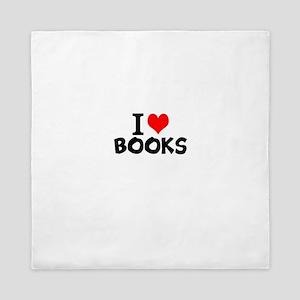 I Love Books Queen Duvet