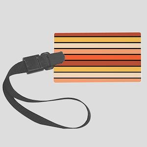 Multicolored Stripes: Orange, Pi Large Luggage Tag