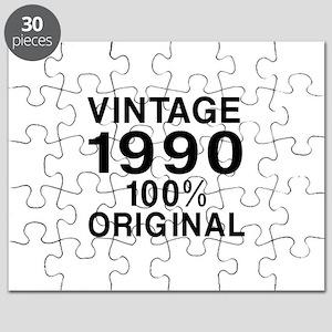 Vintage 1990 Birthday Designs Puzzle
