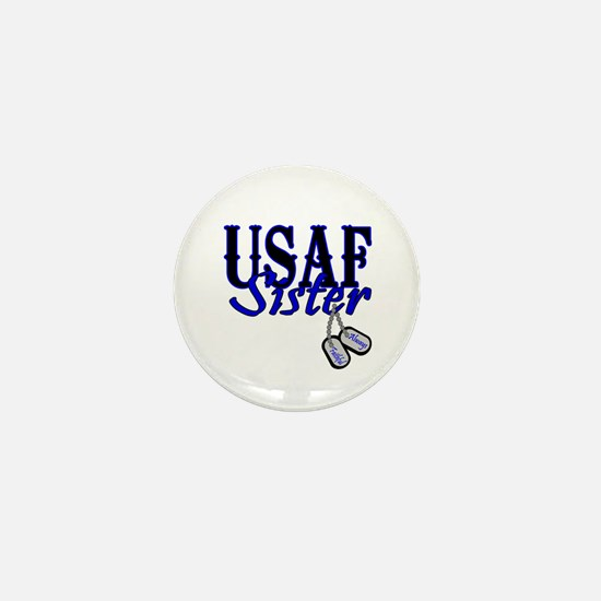 Air Force Sister Dog Tag Mini Button