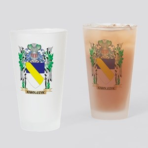 Karolczyk Coat of Arms - Family Cre Drinking Glass