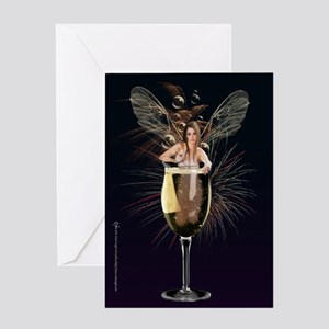 New Years Eve Fairy Greeting Card