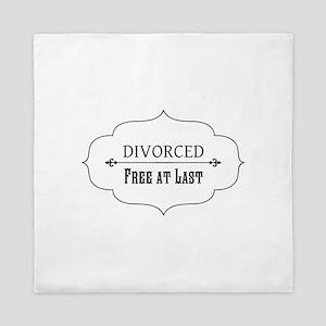Divorce Free at Last Queen Duvet