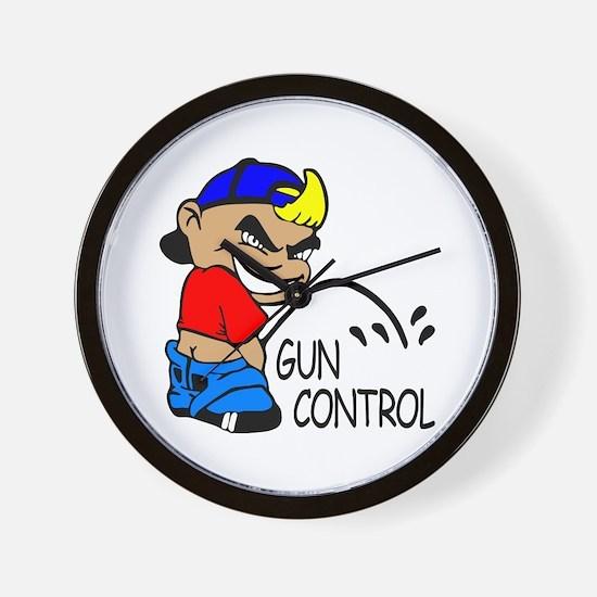 P On Gun Control Wall Clock