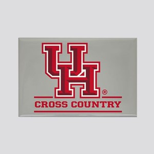 UH Cross Country Rectangle Magnet