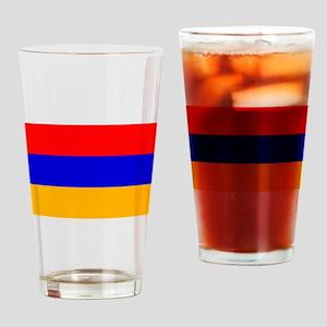 Armenian Flag Drinking Glass