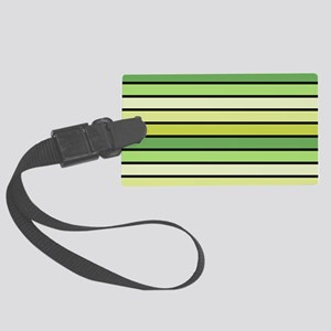 Monochrome Stripes: Shades of Gr Large Luggage Tag