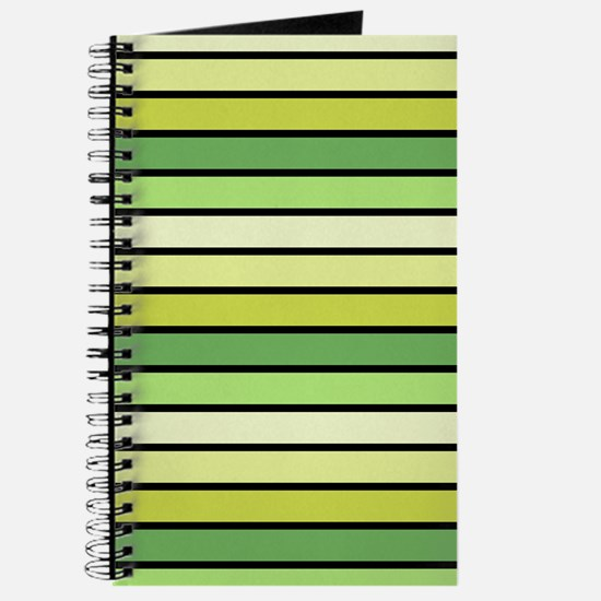 Monochrome Stripes: Shades of Green Journal