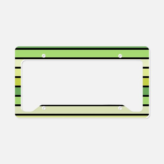 Monochrome Stripes: Shades of License Plate Holder