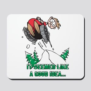 Funny Snowmobile Mousepad