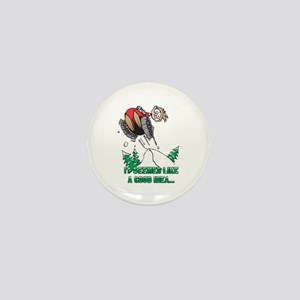 Funny Snowmobile Mini Button