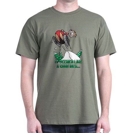 Funny Snowmobile Dark T-Shirt