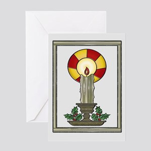 Yule Candle Greeting Card