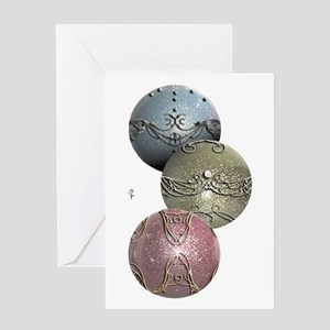 Glitter Ornaments Greeting Card