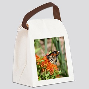 Monarch Butterfly with Butterfly Canvas Lunch Bag