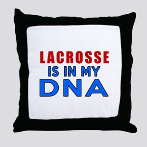 Lacrosse Is In My DNA Throw Pillow