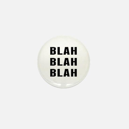 Blah Blah Mini Button