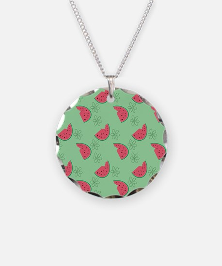 Watermelon Flowers Necklace