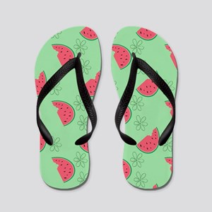 Watermelon Flowers Flip Flops